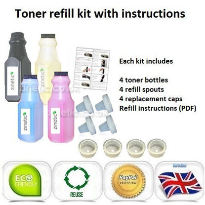Picture of Compatible 4 Colour Brother TN-230 Toner Refill Multipack