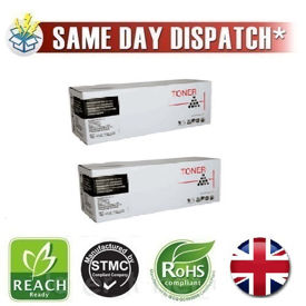 Compatible Twin Pack Brother TN-2010 Black Toner Cartridge