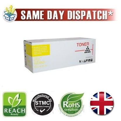 Picture of Compatible High Capacity Yellow Dell 9X54J Toner Cartridge