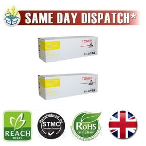 Picture of Compatible Yellow Xerox 106R02604 Toner Twin Pack