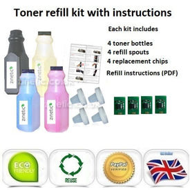OKI C9655 Toner Refill Rainbow Value Pack