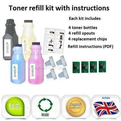 OKI C822 Toner Refill Rainbow Value Pack