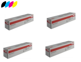 Original 4 Colour High Capacity Oki 4649060 Toner Cartridge Multipack