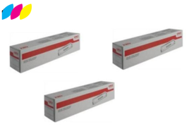 Original 3 Colour OKI 438371 Toner Cartridge Multipack